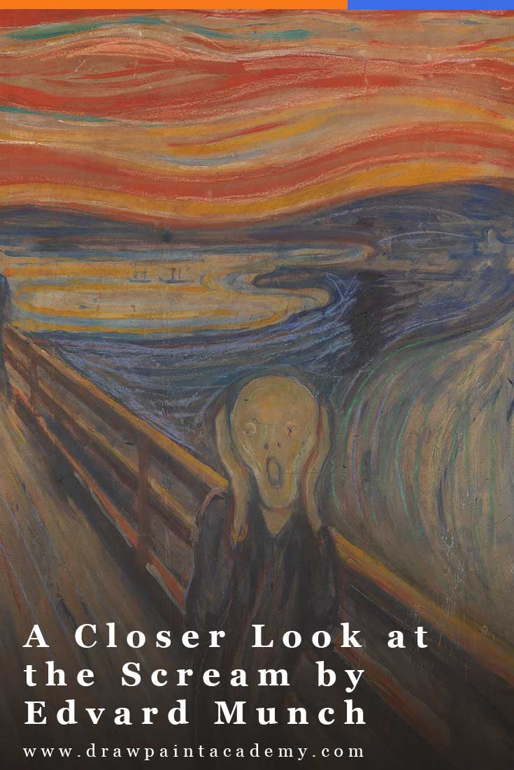 In this post I will be taking a closer look at The Scream by Edvard Munch, which features a dramatic display of swirling lines, distorted forms and exaggerated colors.