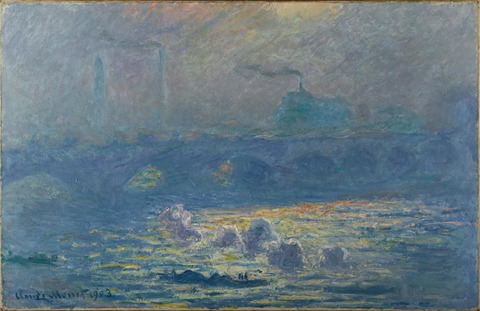 Claude Monet, Waterloo Bridge, Sunlight Effect, 1903