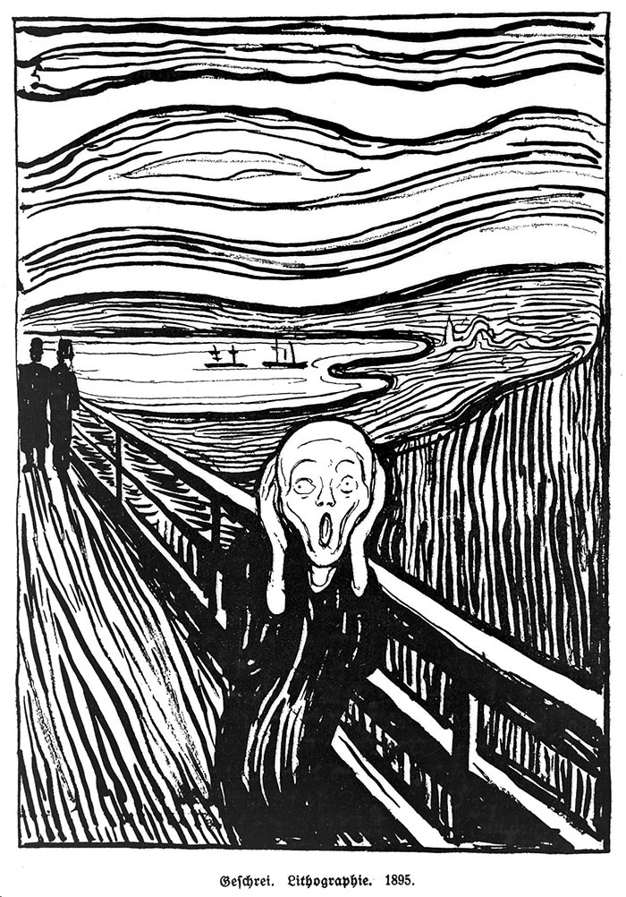 Edvard Munch, The Scream, 1893 (Lithograph)