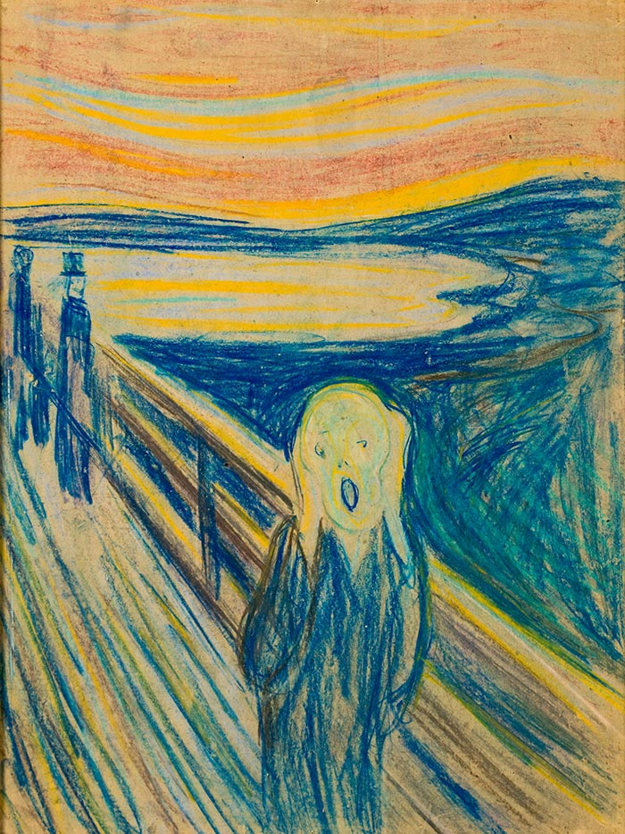 Edvard Munch, The Scream, 1893 (Pastel)
