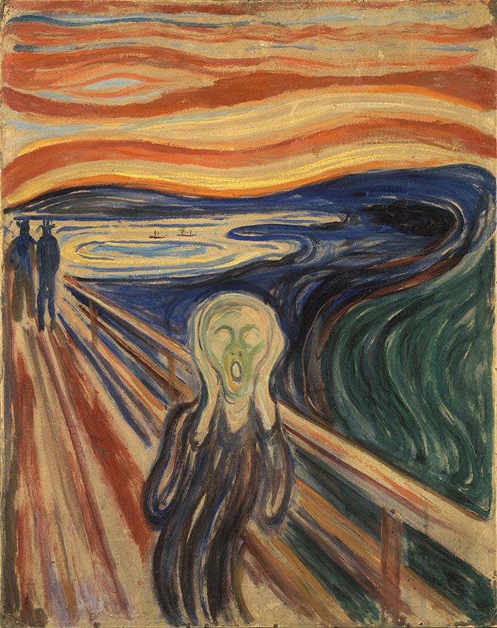 Edvard Munch, The Scream, 1910 (Tempera)