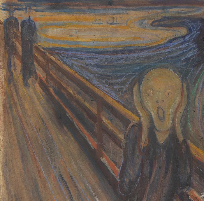 Edvard Munch, The Scream,1893 (Detail 5)