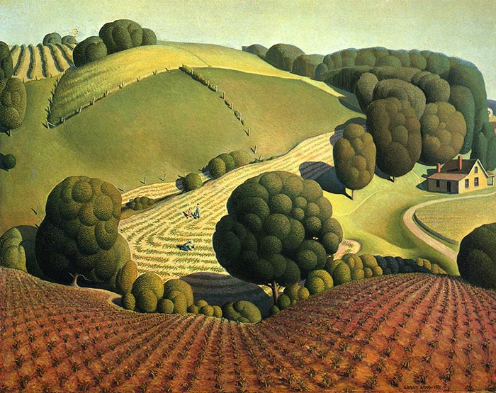 Grant Wood, Young Corn, 1931