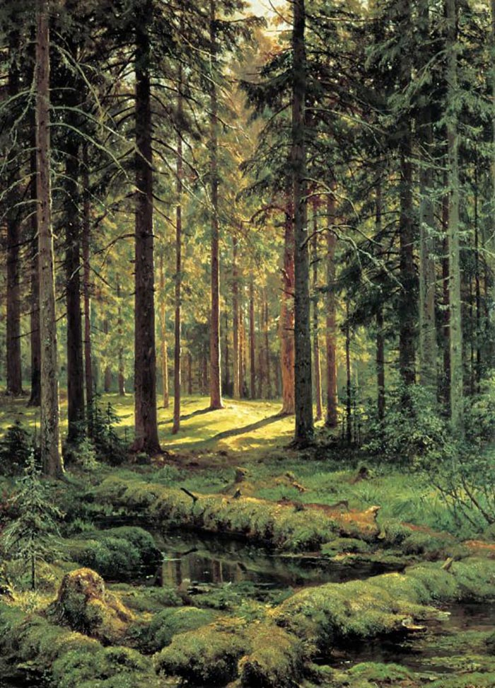Ivan Ivanovich Shishkin, A Coniferous Forest. Sunny Day, 1895