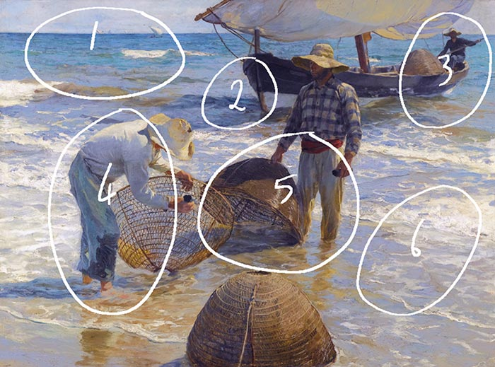 Joaquín Sorolla, Fishermen from Valencia, 1895 - Numbered