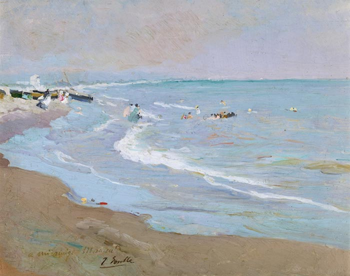 Joaquín Sorolla, The Beach in Valencia