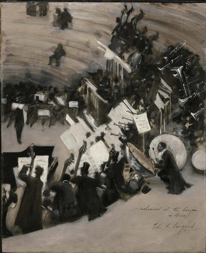 John Singer Sargent, Orchestra Rehearsal of Jules Etienne Bastard, 1880