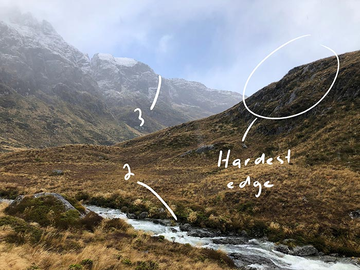 New Zealand, Routeburn Track - Edge
