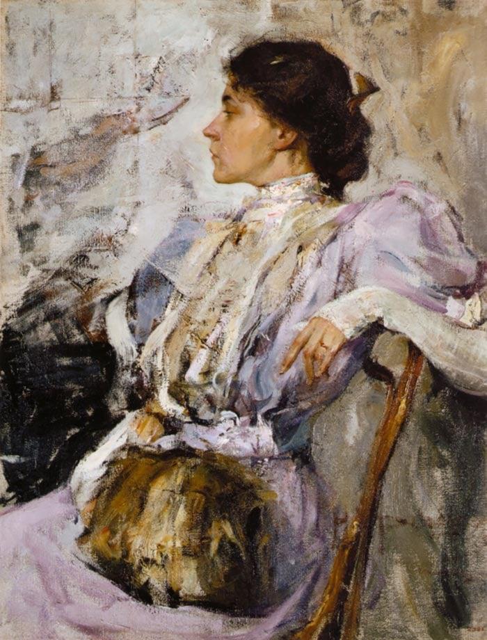 Nicolai Fechin, La dama de púrpura, 1908