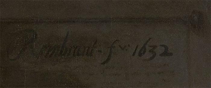 Rembrandt, Signature