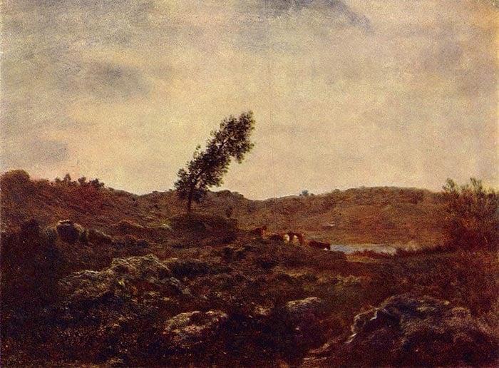 Théodore Rousseau, Barbizon Landscape, c.1850