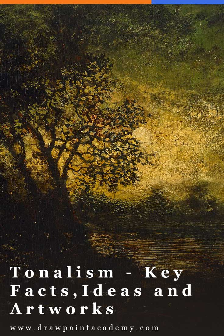 Tonalism was an art movement which emerged in the United States during the 1870s and was characterized by hazy and atmospheric landscapes and muted color palettes. In this post, I will discuss some of the key facts, ideas, artists and take a closer look at some master Tonalist paintings. #drawpaintacademy