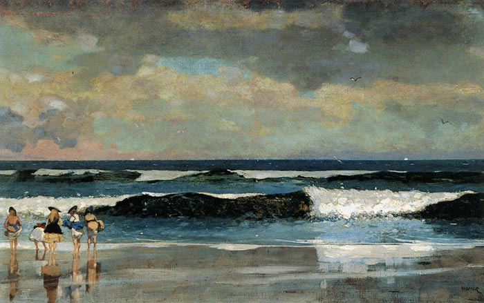 Winslow Homer, On the Beach, 1869