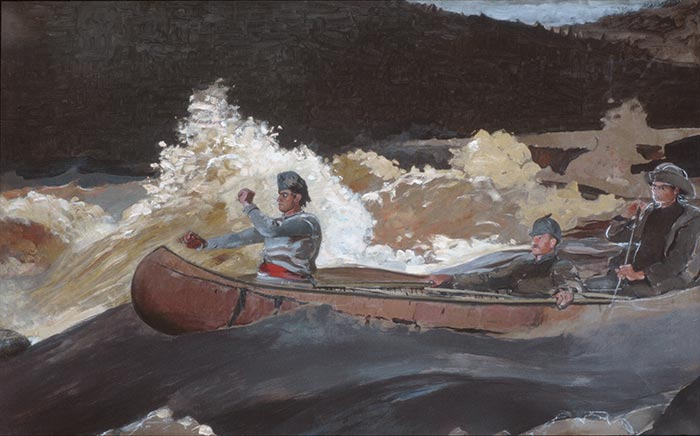 Winslow Homer, Shooting the Rapids, Saguenay River, 1905–10
