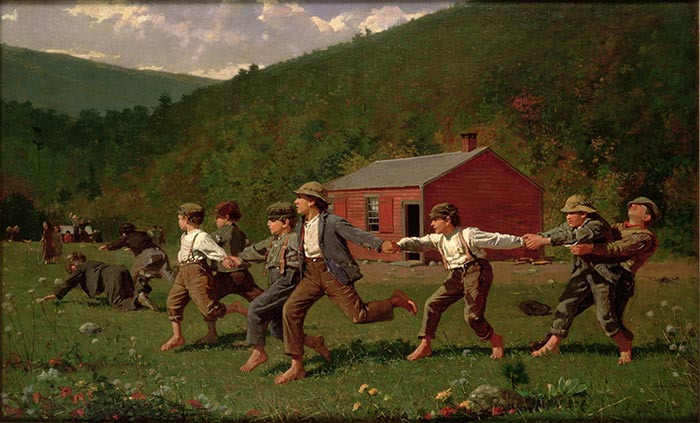 Winslow Homer, Snap the Whip, 1872