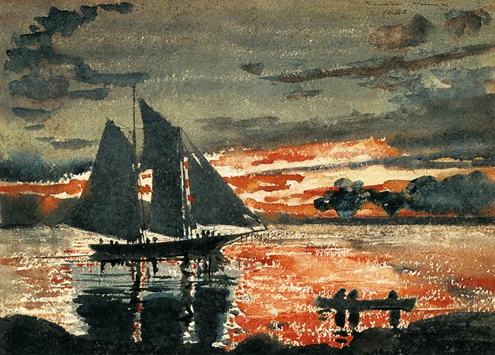 Winslow Homer, The Blazing Sunset, 1880
