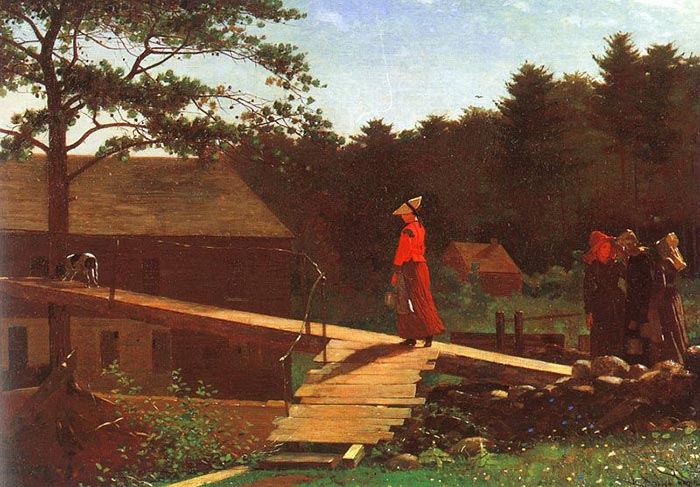 Winslow Homer, The Old Mill. Morning Bell, 1871