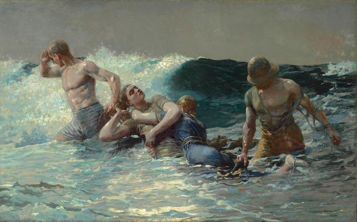 Winslow Homer, Undertow, 1886