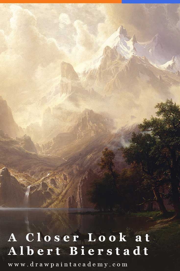 Albert Bierstadt (1830 - 1902) was a remarkable German-American painter known for his vast and luminous landscapes. In this post, I take a closer look at his life and art. #drawpaintacademy