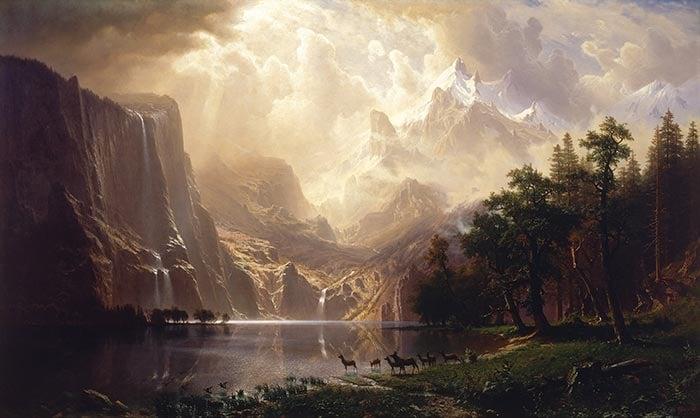 Albert Bierstadt, Among the Sierra Nevada, California, 1868