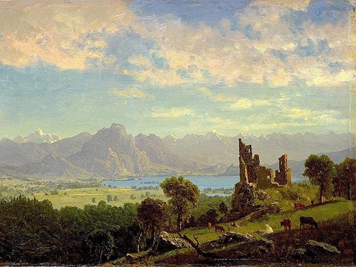 Albert Bierstadt, Scene in the Tyrol, 1854