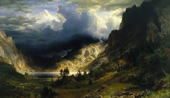 Albert Bierstadt, Storm in the Rocky Mountains, Mount Rosalie, 1866