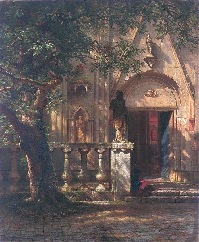 Albert Bierstadt, Sunlight and Shadow, 1862