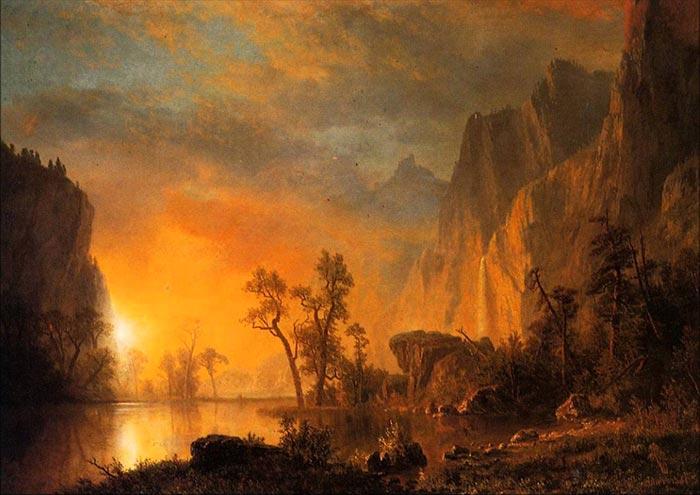 Albert Bierstadt, Sunset in the Rockies, 1866