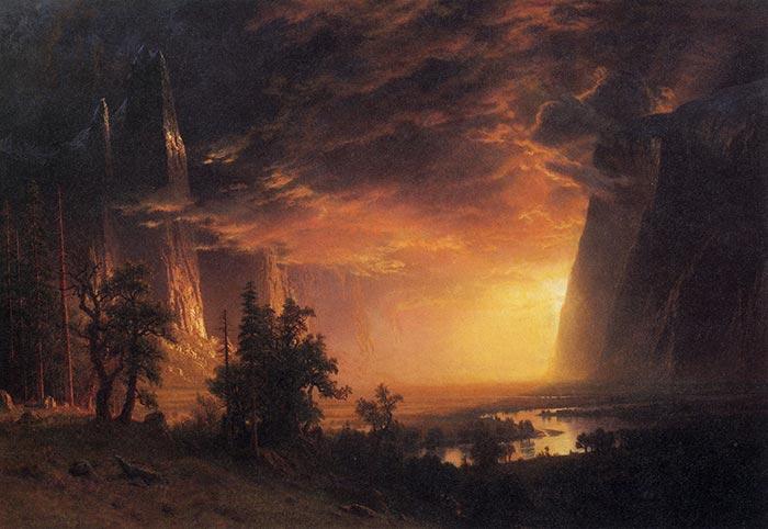 Albert Bierstadt, Sunset in the Yosemite Valley, 1869