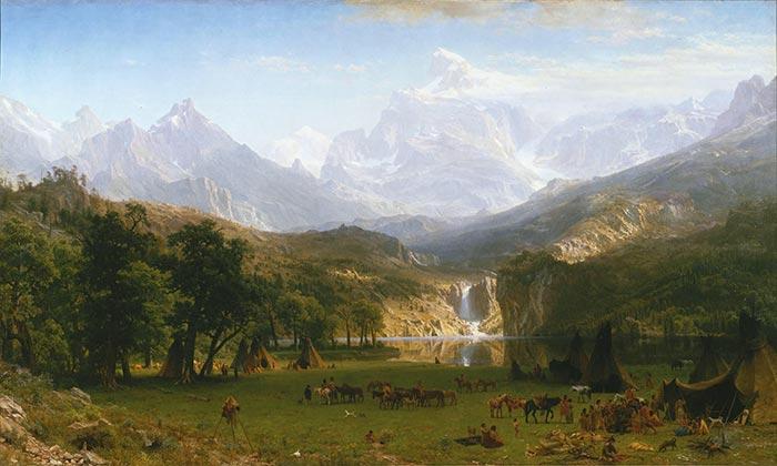 Albert Bierstadt, The Rocky Mountains, Lander's Peak, 1863