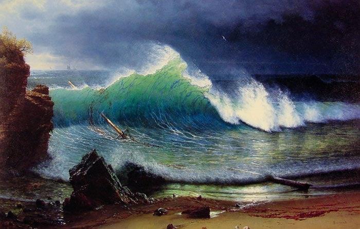 Albert Bierstadt, The Shore of the Turquoise Sea, 1878