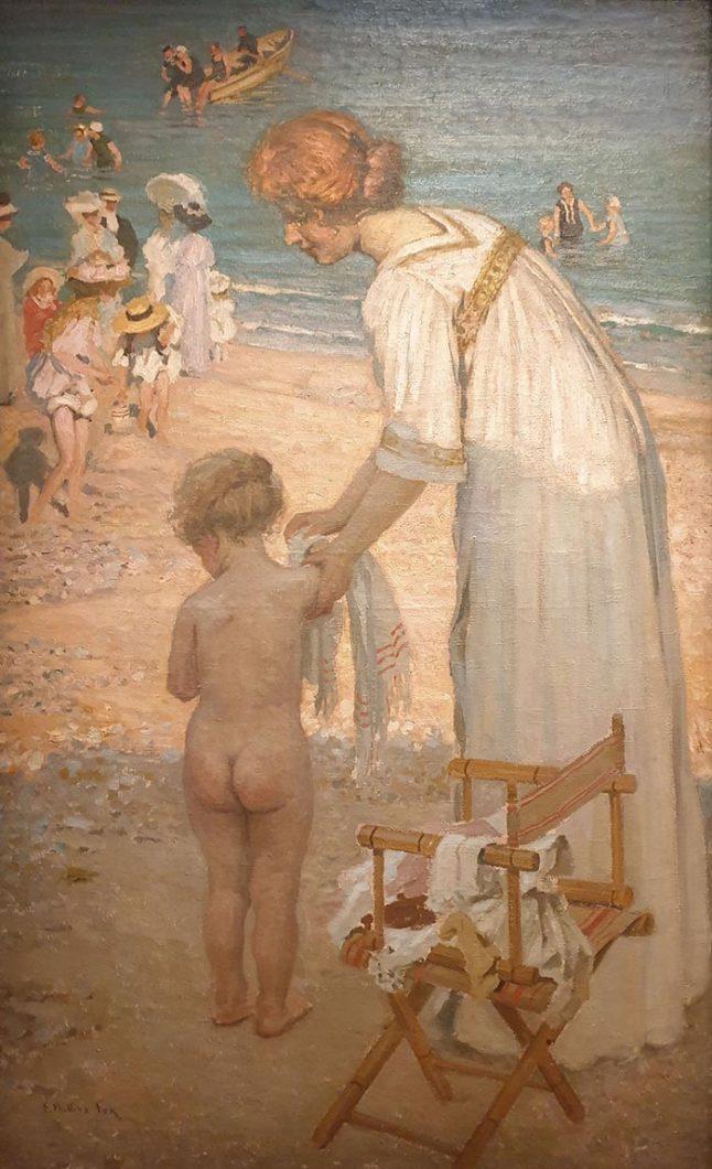 Emanuel Phillips Fox, Bathing Hour (L'Heure Du Bain), c.1909