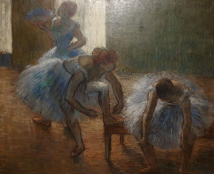 Edgar Degas, Trois Danseuses à La Classe De Dance (Three Dancers at a Dance Class), c.1880-1890