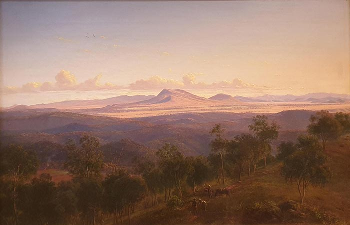 Eugene von Guérard, A View from Mount Franklin Towards Mount Kooroocheang and the Pyrenees, c.1864