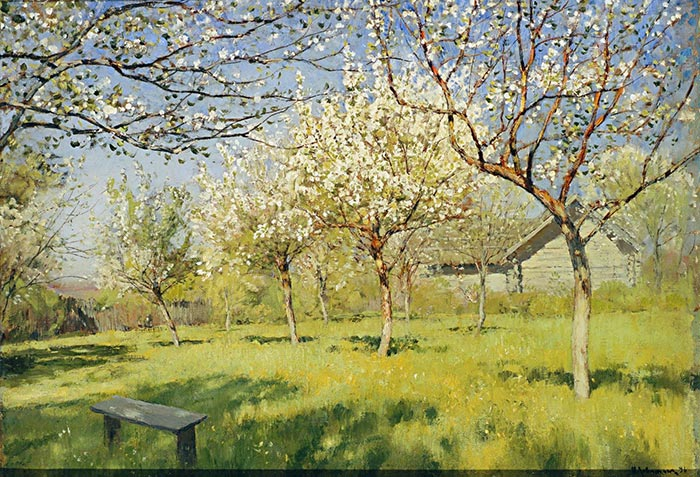 Isaac Levitan, Blooming Apple Trees, 1896