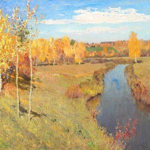 Isaac Levitan, Golden Autumn, 1895