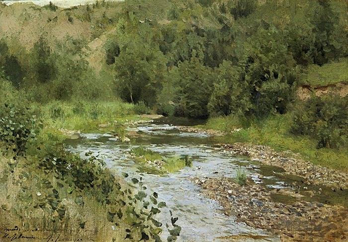 Isaac Levitan, River, 1888