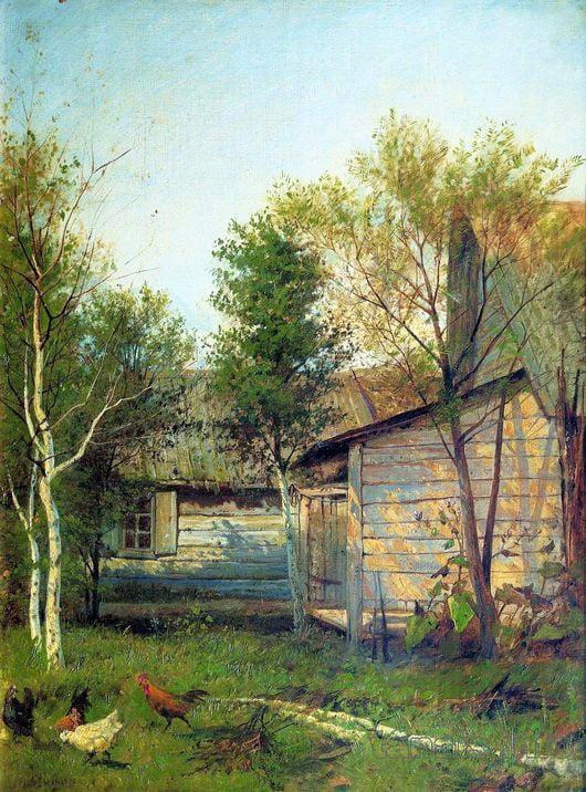 Isaac Levitan, Sunny Day. Springtime, 1876