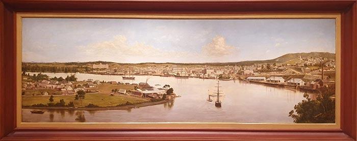 Joseph Augustus Clarke, Panorama of Brisbane, 1880