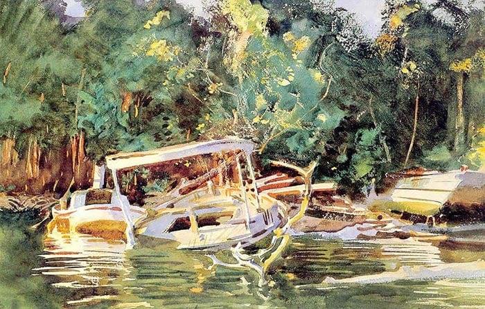 John Singer Sargent, Abandoned Boats, 1917