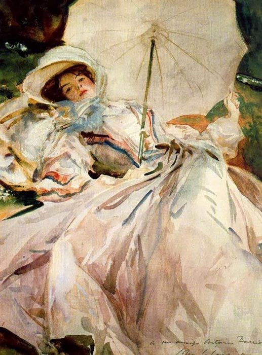 John Singer Sargent, Girl with Umbrella, 1900
