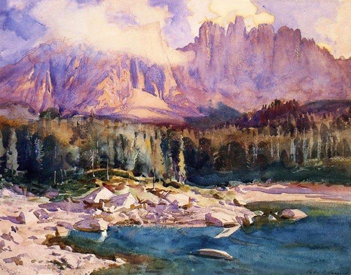 John Singer Sargent, Lake Carezza, Tyrol, 1914