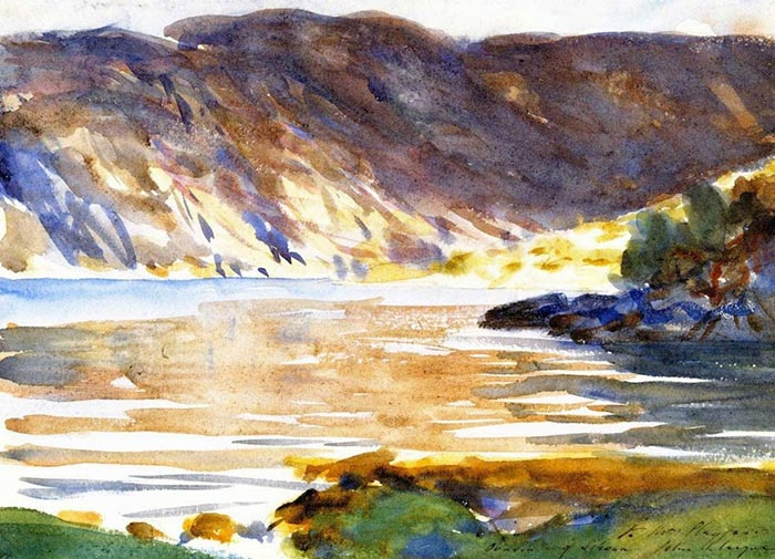John Singer Sargent, Loch Moidart, Inverness-Shire, Scotland (View from Shore), 1896