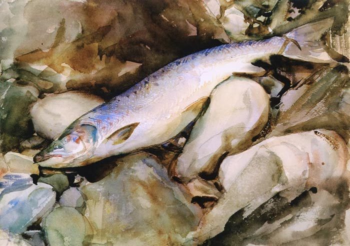 John Singer Sargent, Salmon on the Rocks, 1901