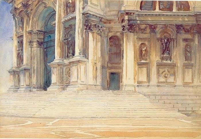 John Singer Sargent, Santa Maria Della Salute, Venice. The Main Entrance, 1907