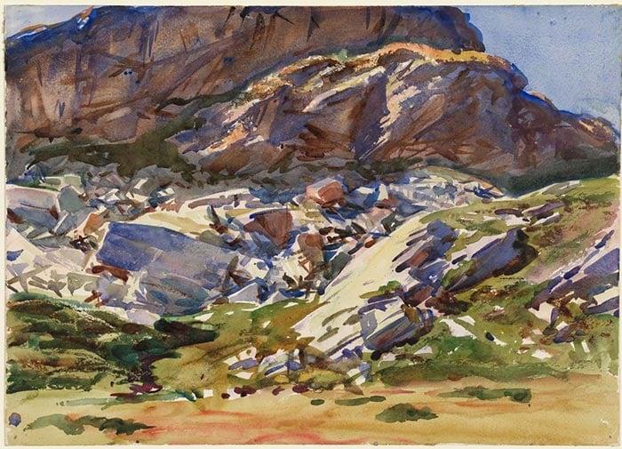 John Singer Sargent, Simplon. Cliffs, 1911