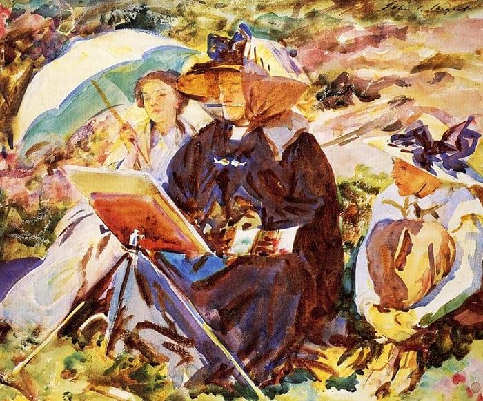 John Singer Sargent, Simplon. Lesson, 1911