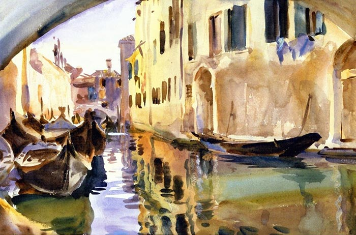 John Singer Sargent, The Small Channel. Venice, 1904