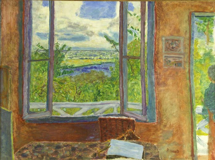 Pierre Bonnard, Open Window Towards the Seine (Vernon), 1912