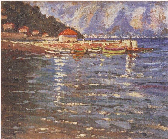 Sir Winston Churchill, The Harbour at St. Jean Cap Ferrat, 1921